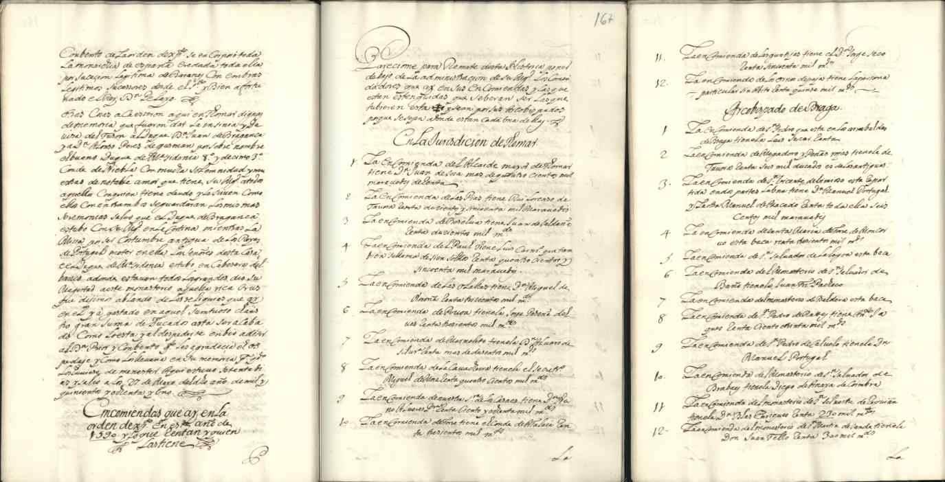 Comendas que há na Ordem no ano 1590 - Jurisdição de Tomar