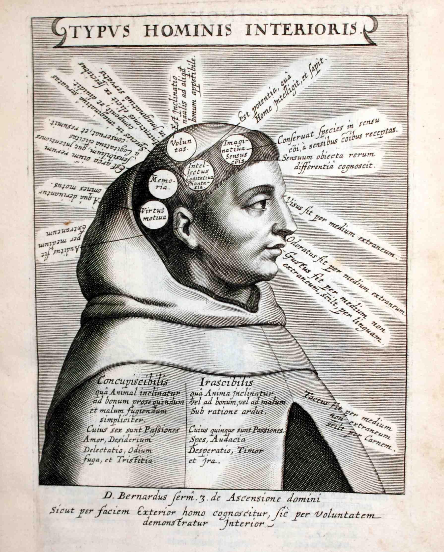 Typus Hominis Interioris, in Idea vitae Teresianae iconibvs  symbolicis expressa... Antuerpiae, apud Jacobum Mesen, (BPNM)