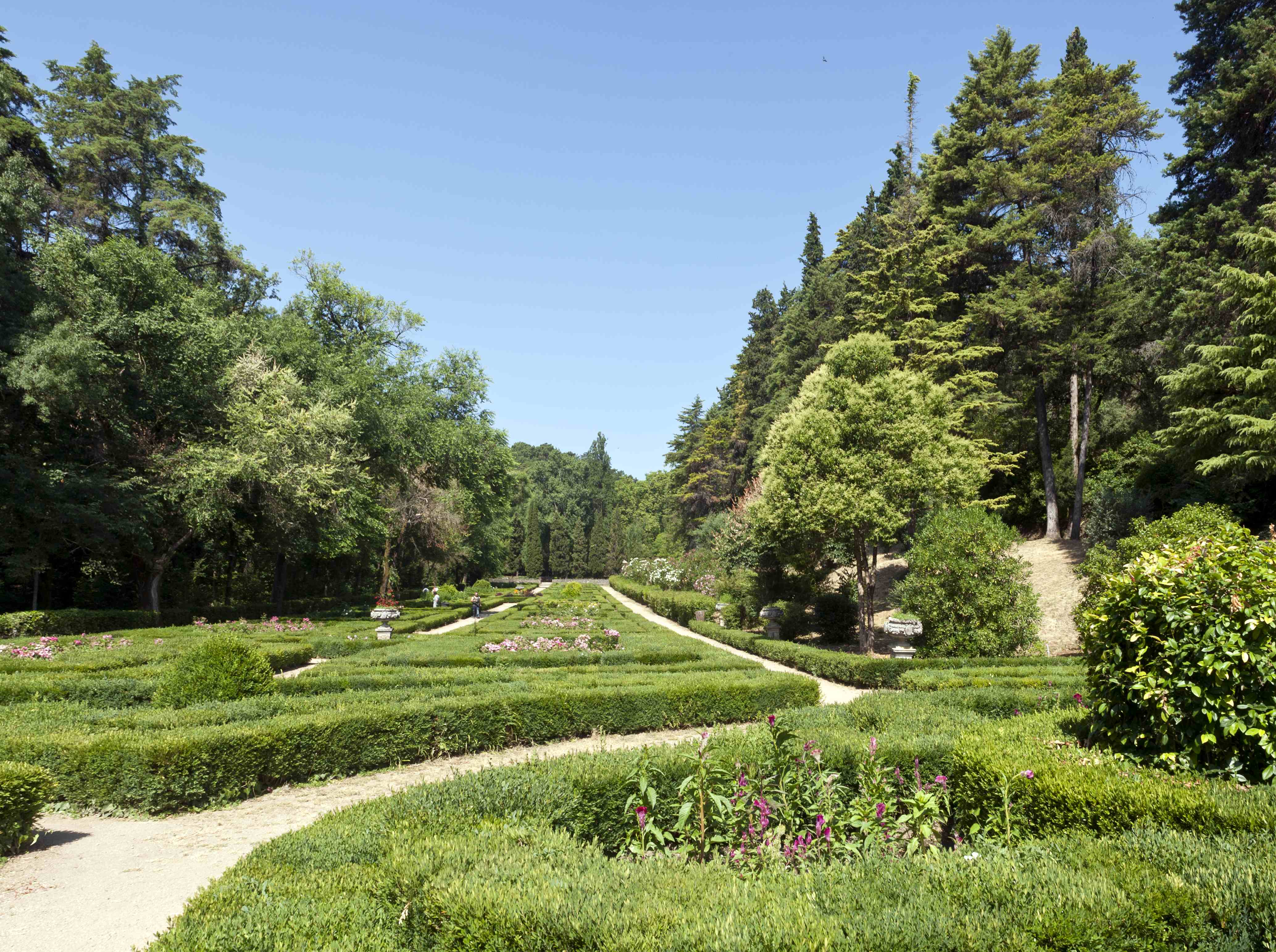 Nos anos 40 a Direção Geral dos Serviços Florestais e Agrícolas procedeu a várias intervenções na antiga cerca, plantando nas áreas de vale em tempo ocupadas por hortas e pomares o atual jardim formal.